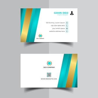 Diseño de plantilla de diseño de tarjeta de visita de oro moderno