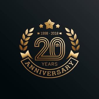 Diseño de plantilla de emblemas de aniversario