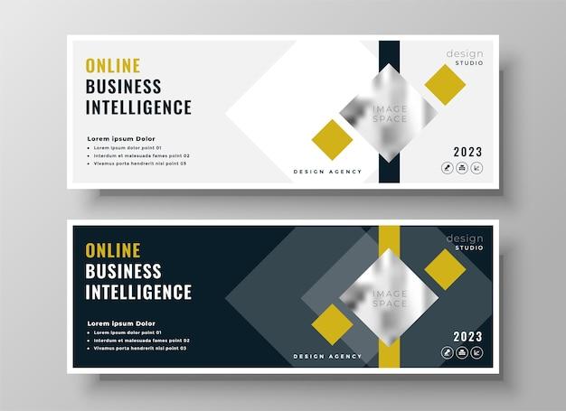 Diseño de plantilla de encabezado o portada de facebook geométrica empresarial profesional