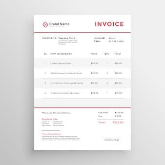 Diseño de plantilla de factura comercial mínima