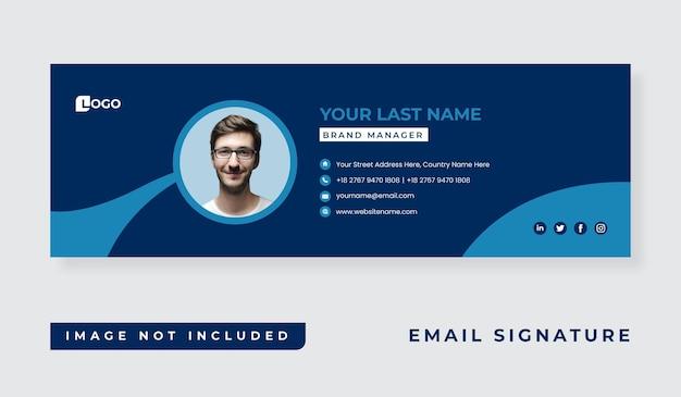Diseño de plantilla de firma de correo electrónico empresarial personal