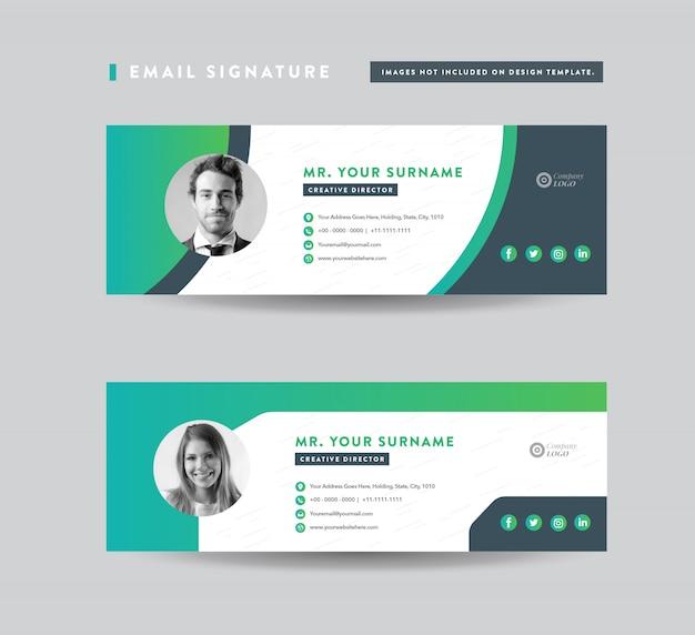 Diseño de plantilla de firma de correo electrónico | pie de página de correo electrónico | portada de redes sociales personales