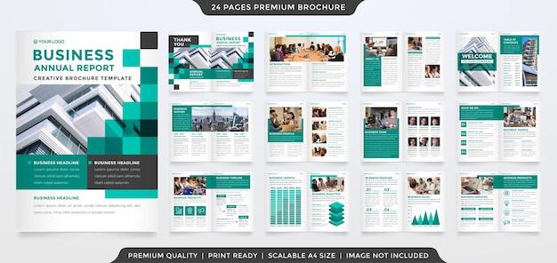 Diseño de plantilla de folleto a4 con estilo abstracto y uso de concepto moderno para perfil comercial y catálogo.