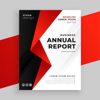 Diseño de plantilla de folleto comercial de empresa de informe anual