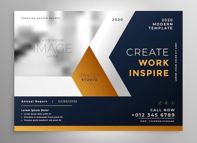 Diseño de plantilla de folleto comercial moderno