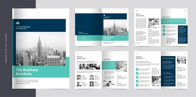 Diseño de plantilla de folleto corporativo de 08 páginas