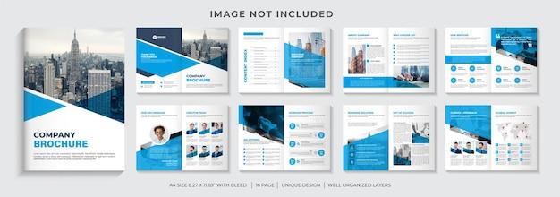Diseño de plantilla de folleto corporativo o diseño de plantilla de folleto de perfil de empresa de varias páginas