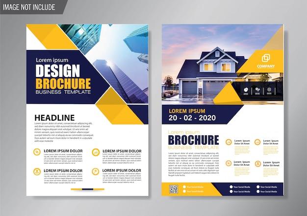 Diseño de la plantilla de folleto y folleto para el informe anual