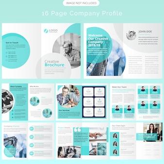 Diseño de plantilla de folleto de página