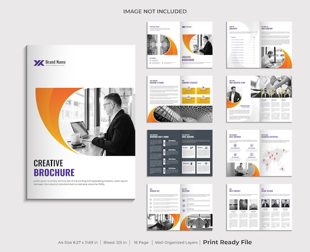 Diseño de plantilla de folleto de perfil de empresa