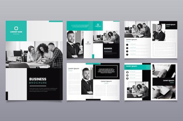 Diseño de plantilla de folleto con personas