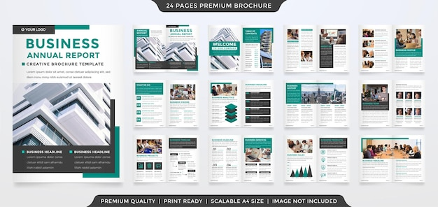 Diseño de plantilla de folleto plegable de negocios minimalista