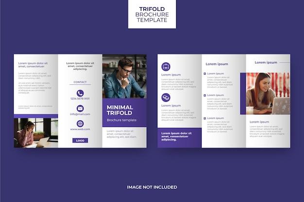 Diseño de plantilla de folleto tríptico mínimo