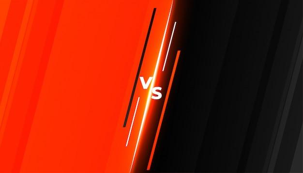 Diseño de plantilla de fondo de batalla versus vs competition