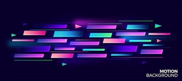 Diseño de plantilla de fondo de movimiento abstracto