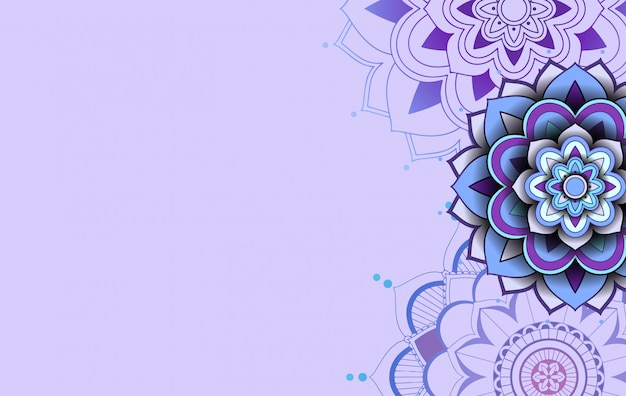 Diseño de plantilla de fondo con patrones de mandala