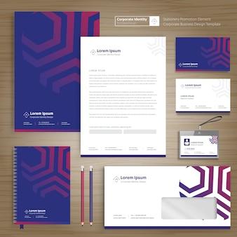 Diseño de plantilla de identidad corporativa de negocios