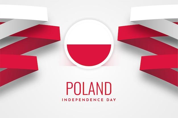 Diseño de plantilla de ilustración de celebración del día de la independencia nacional de polonia