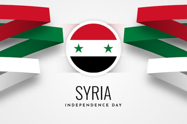 Diseño de plantilla de ilustración de día de la independencia de siria