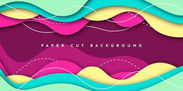 Diseño de plantilla de ilustración de fondo de corte de papel