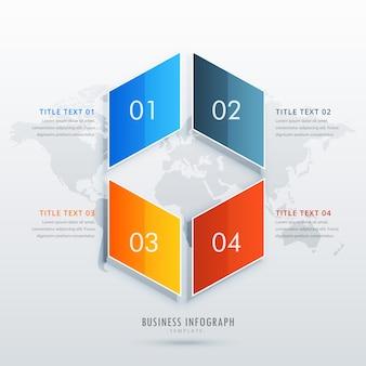 Diseño de plantilla de infografía de cuatro opciones