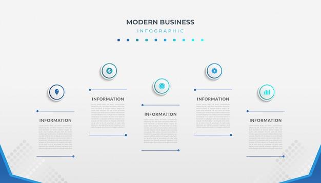 Diseño de plantilla de infografía empresarial con estilo minimalista