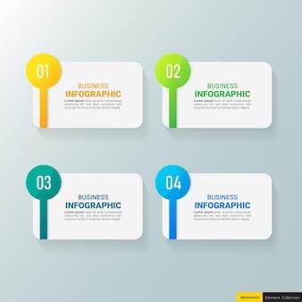 Diseño de plantilla de infografía empresarial moderna