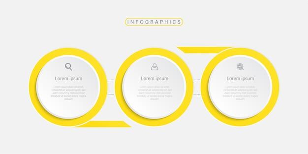 Diseño de plantilla de infografía empresarial