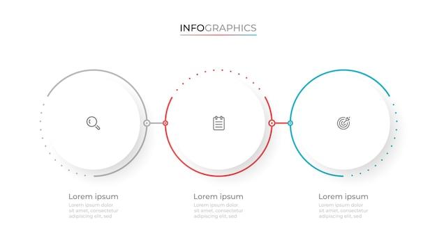 Diseño de plantilla de infografía moderna con círculos