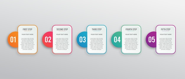 Diseño de plantilla de infografía moderna