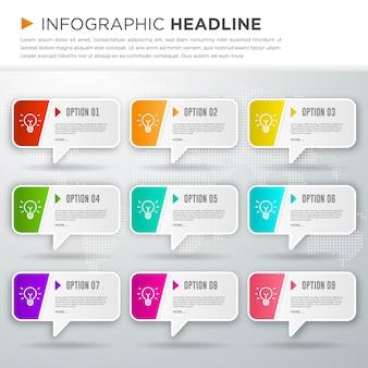 Diseño de plantilla de infografía de negocios