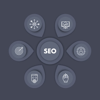 Diseño de plantilla de infografía seo