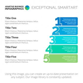 Diseño de plantilla de infografía