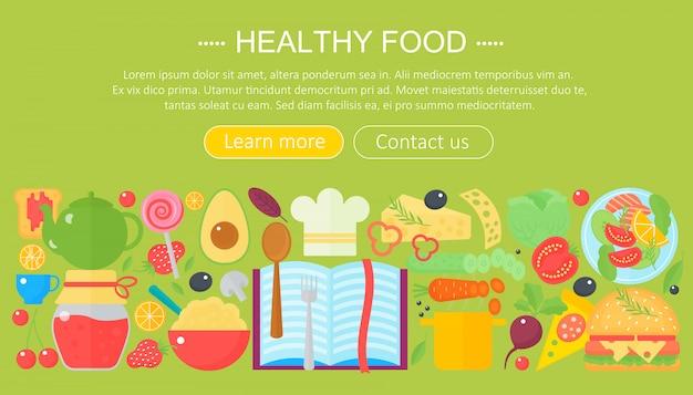 Diseño de plantilla de infografías de comida sana