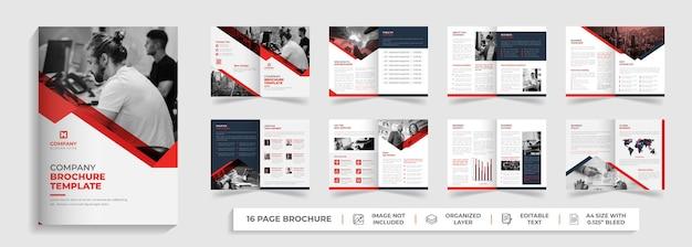 Diseño de plantilla de informe anual de folleto comercial de propuesta de negocio plegable moderno corporativo