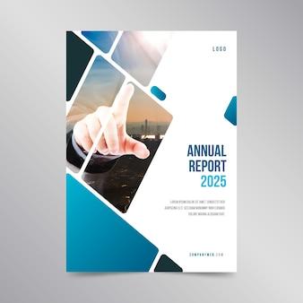 Diseño de plantilla de informe anual con foto