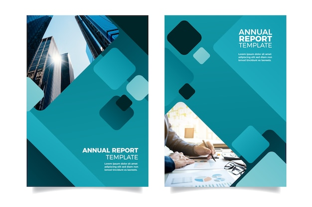 Diseño de plantilla de informe anual