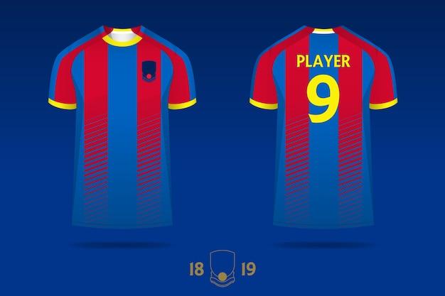 Diseño de plantilla de kit de fútbol jersey o fútbol