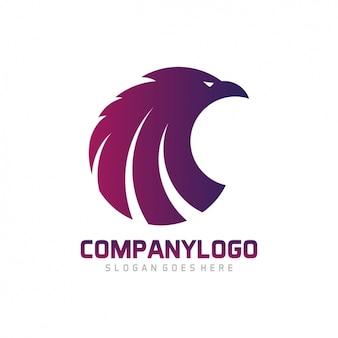 Diseño de plantilla de logo con forma de águila