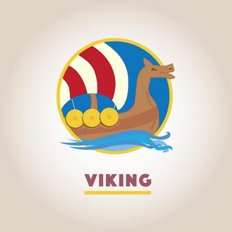 Diseño de plantilla de logo vikingo