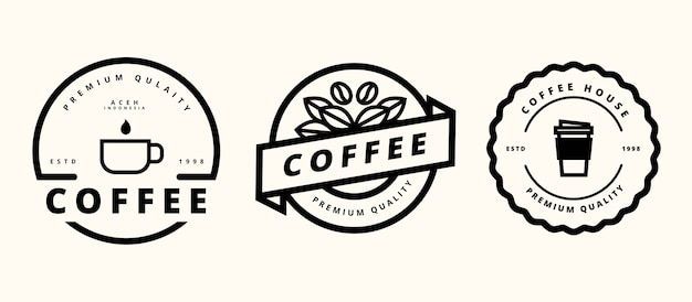 Diseño de plantilla de logotipo de café retro