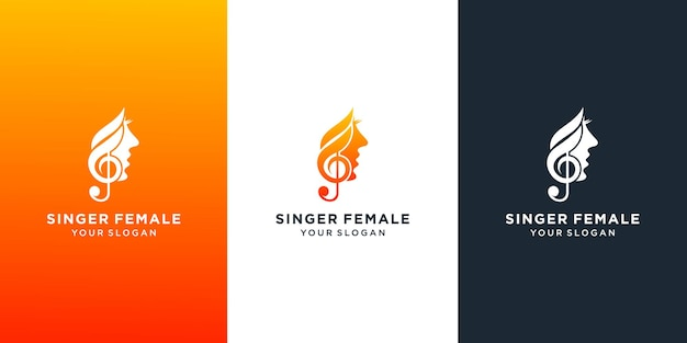 Diseño de plantilla de logotipo de coro de cantante