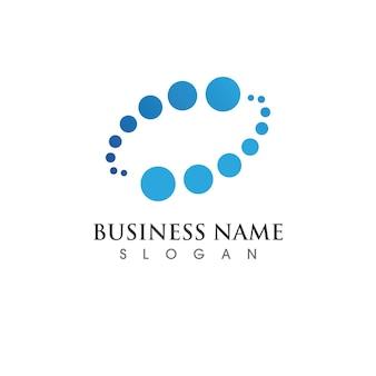 Diseño de plantilla de logotipo de icono de ilustración de vector de vórtice