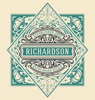 Diseño de plantilla de logotipo de lujo vintage