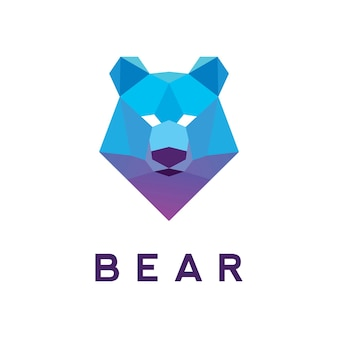 Diseño de plantilla de logotipo de oso polivinílico