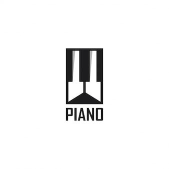 Diseño de plantilla de logotipo de piano. ilustración. piano abstracto web iconos y logo.