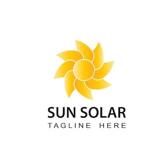 Diseño de plantilla de logotipo de sol solar