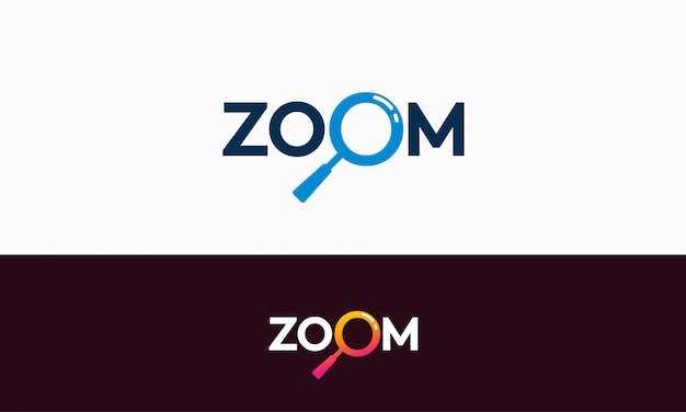 Diseño de plantilla de logotipo de zoom simple