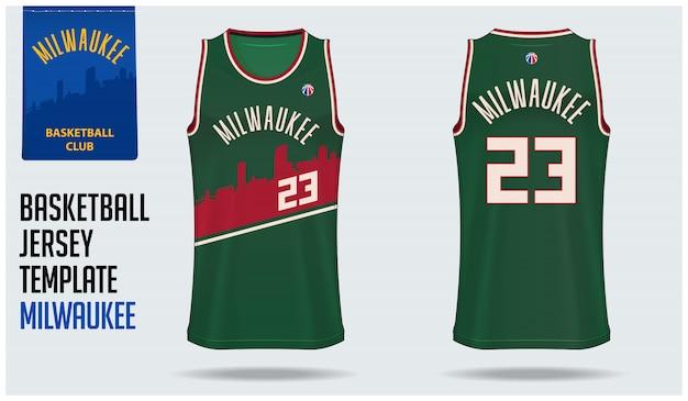 Diseño de plantilla de maqueta de camiseta de baloncesto