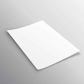 Diseño de plantilla de mockup de folleto único